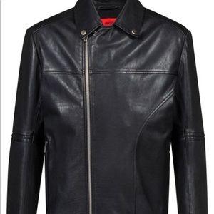 HUGO Black Lovell Biker Jacket Size L